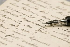 handgeschriebene alte Briefe