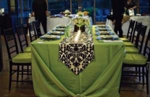 decoration salle mariage verte