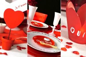 décoration de table sur le thème love pour un mariage