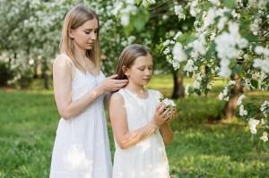 robes mère fille pour un mariage